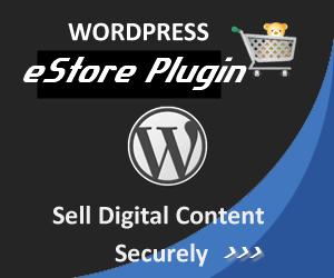 Wordpress eStore Plugin and Shopping Cart