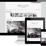 Glitter and Lace WordPress Theme