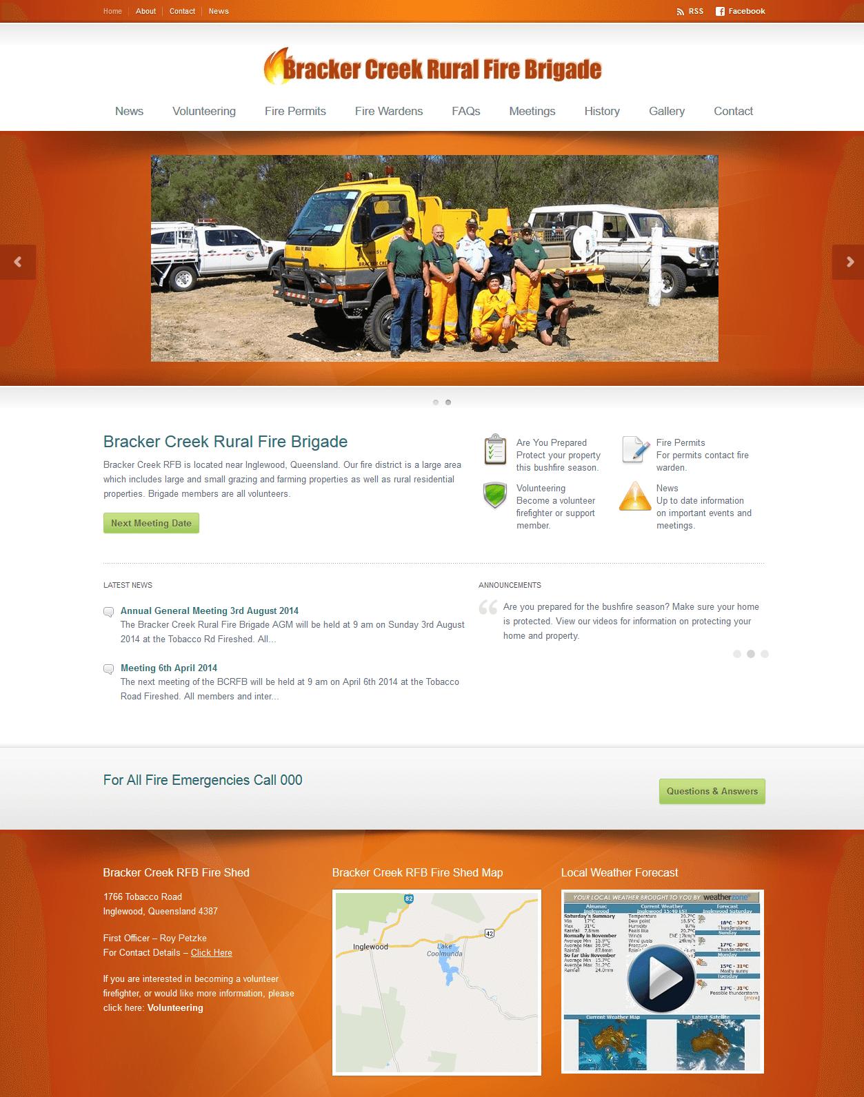 Bracker Creek Rural Fire Brigade Website