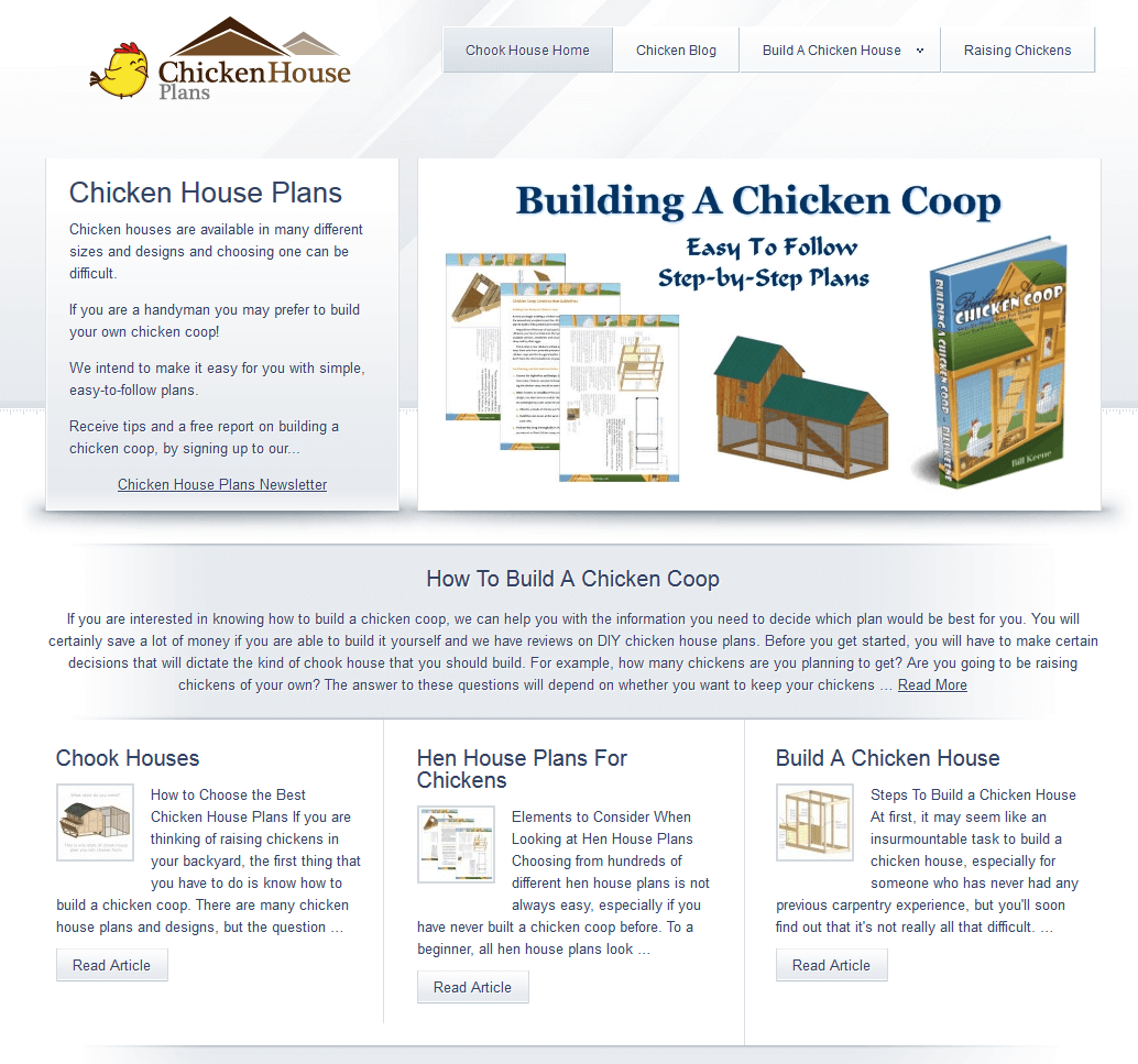 Chicken House Plans Website