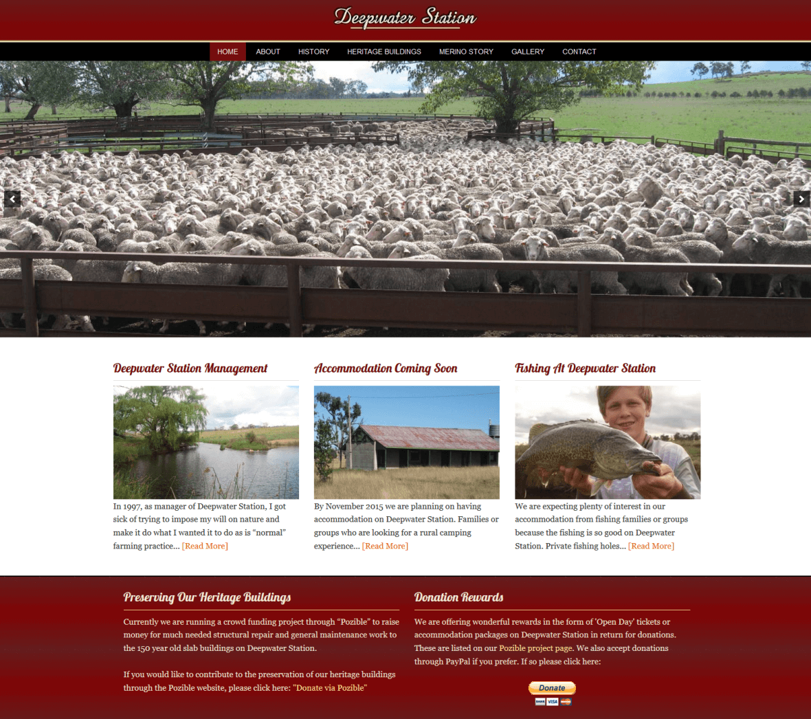 Heritage Listing Website