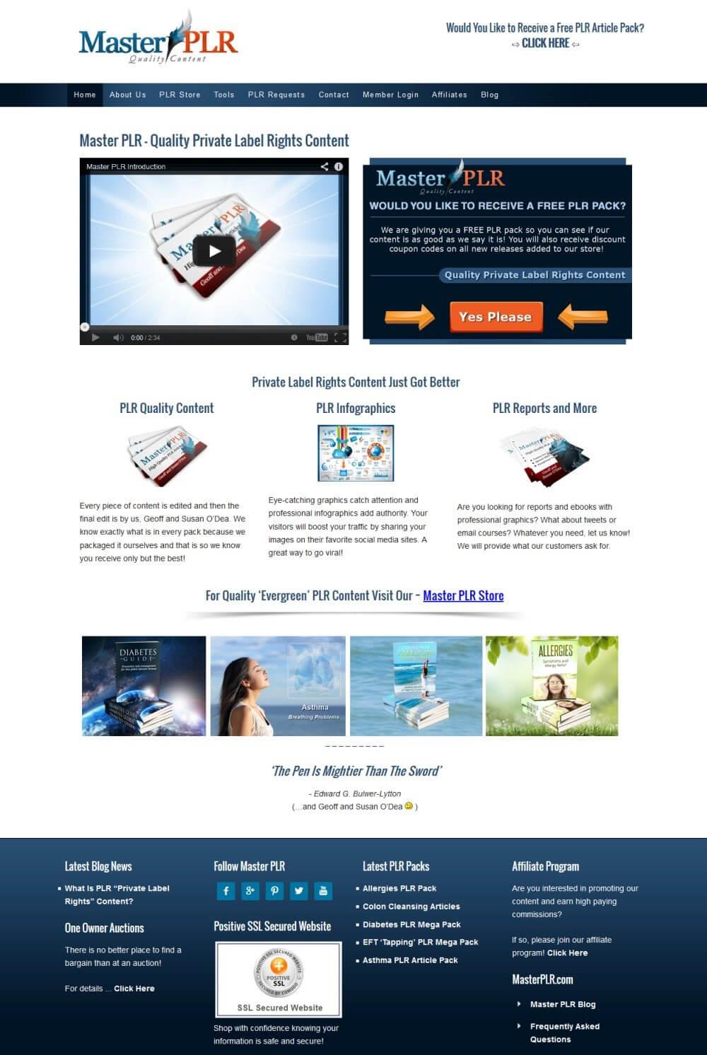 Master PLR Membership Website