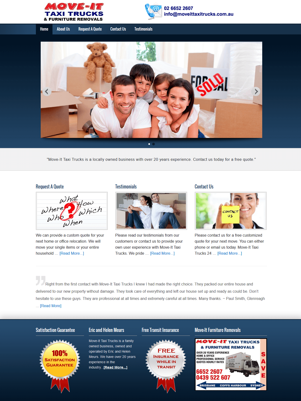 Furniture Removalist Website