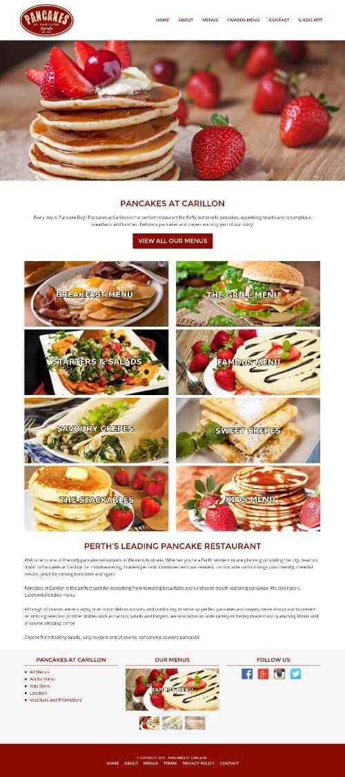 Pancake Restaurant Website