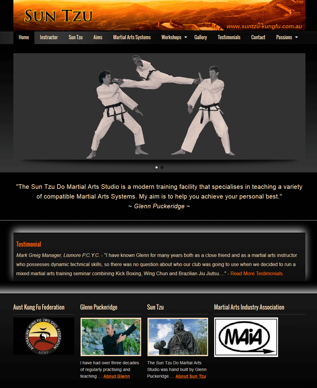 Sun Tzu Martial Arts Studio Website