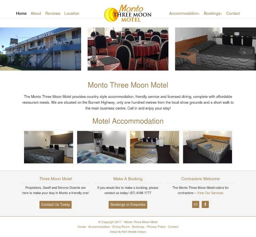 Three Moon Motel Website