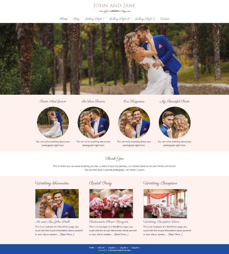 Wedding Gallery Website