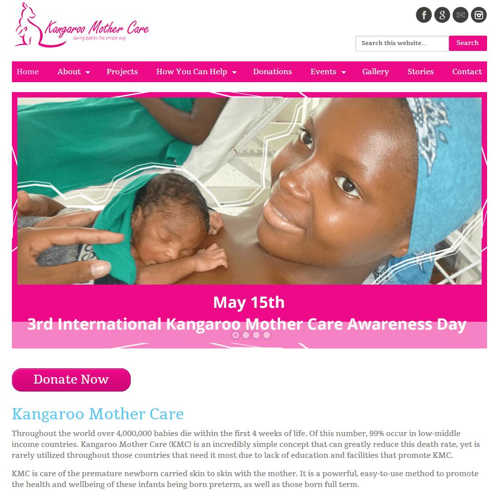 Kangaroo Mother Care Website Design