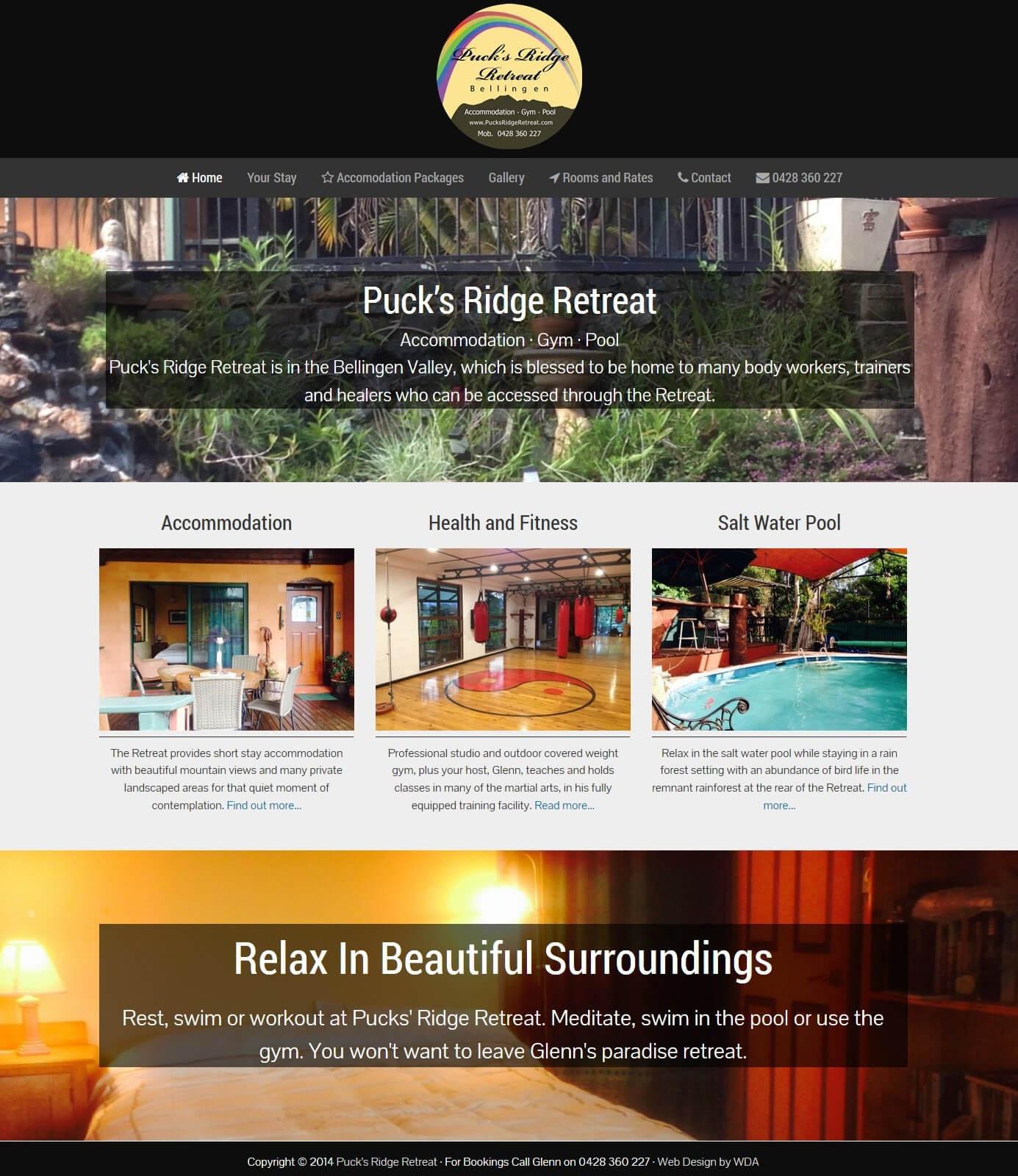 Bed & Breakfast + Health Retreat Website Design