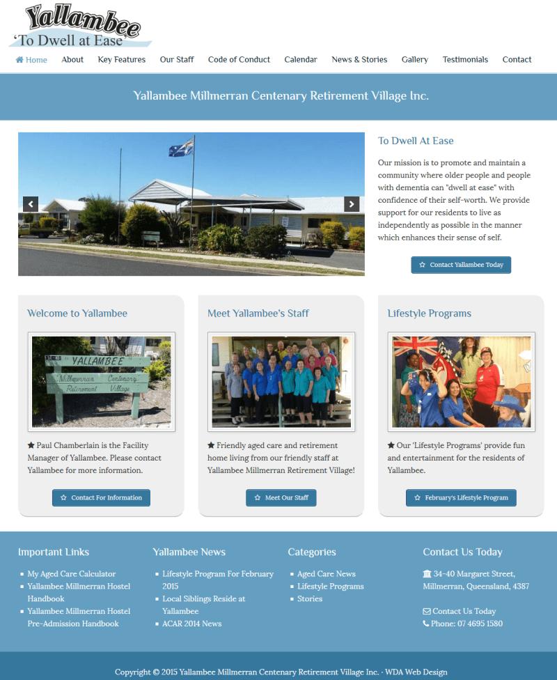 Retirement Village Website