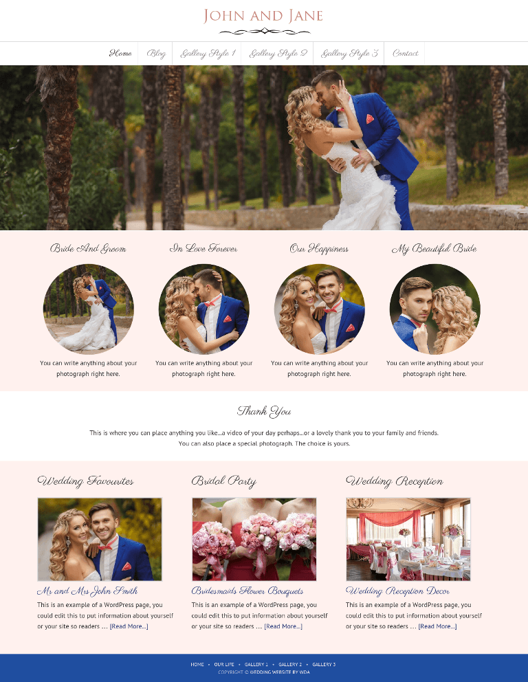 Wedding Gallery Website