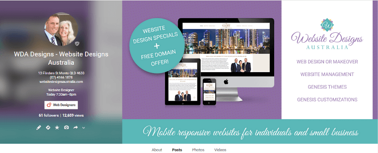 Website Designs Australia Google+ Business Page